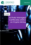 Actively Managed Certificates (AMC) on Crypto Mining